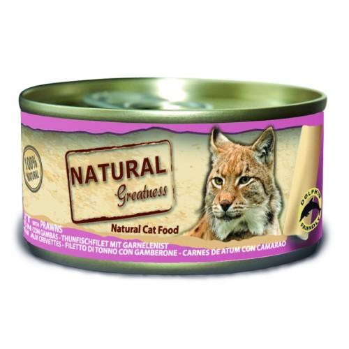 Natural Greatness Filete de atún y gambas 70 Gr
