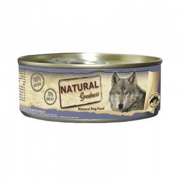 Natural Greatness Pescado de mar con alga kelp 156 Gr