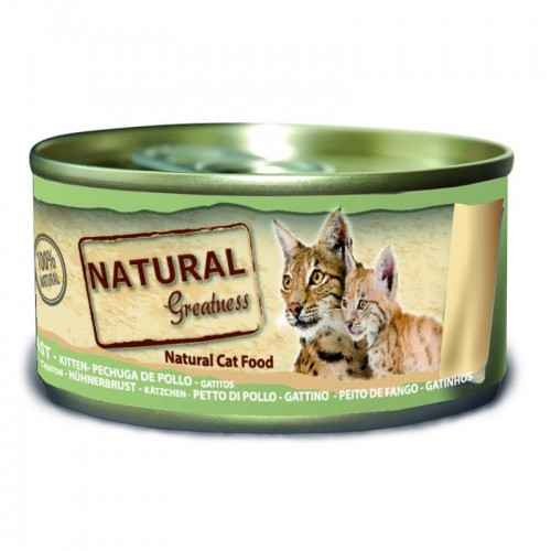 Natural Greatness Pechuga de pollo gatitos 70 Gr